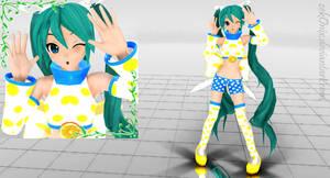 DT_Lemon Ice Bar Miku + DL by ZekoNix