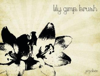 Lily GIMP Brush by Jozabee