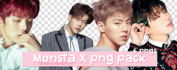 + MONSTA X Beautiful More Concept Photo Png Pack