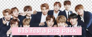 + BTS Festa 2017 Group PT. 1 Png Pack