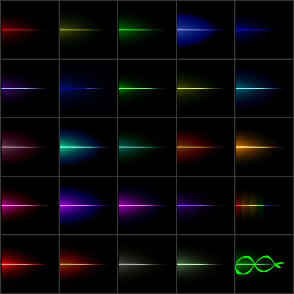Colors for the MME Effect 'Line_V2' DOWNLOAD by UTAUVocaloidAnimeFan