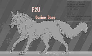 F2U | Wolf-Canine Base | #2 by TheJokingJester