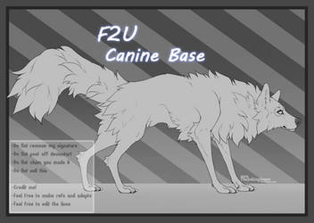 F2U | Wolf - Canine Base | #3 by TheJokingJester