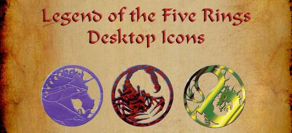 Legend of the Five Rings Icons by shiftercat