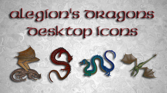 Alegion's Dragons Icons by shiftercat