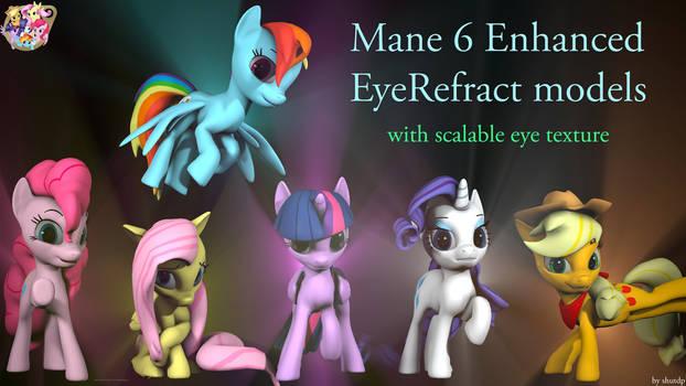 [DL] Mane 6 Enhanced Eyerefract Models