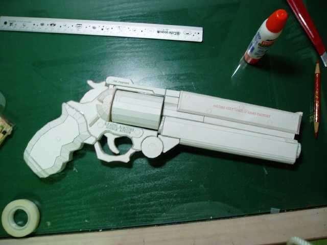 Как сделать из бумаги пистолет револьвер