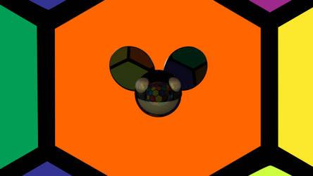 Deadmau5 Wallpaper Hexagon Party 3D Logo Maya BMP