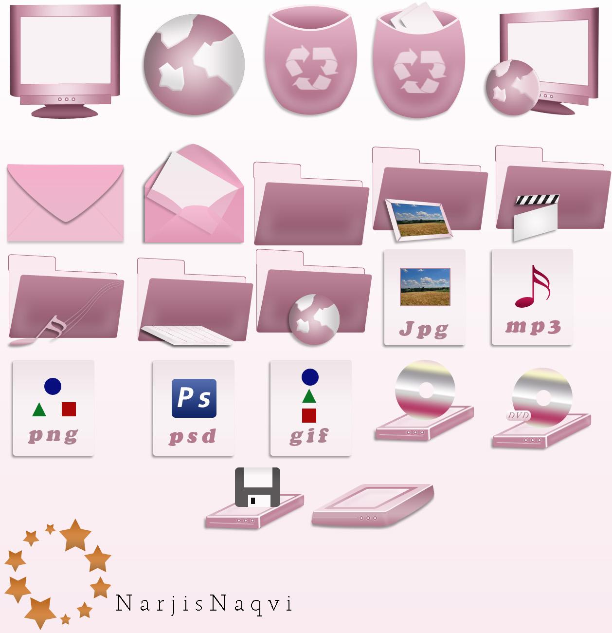 Stylish pink