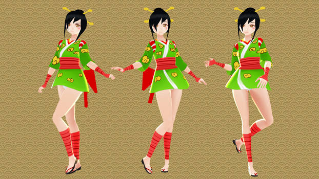 MMD COMMISSION - Ayame (+DL) by SheepishKitsune
