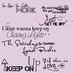 The Saturdays Lyrics Brushes