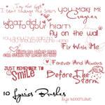 10 Lyrics Brushes