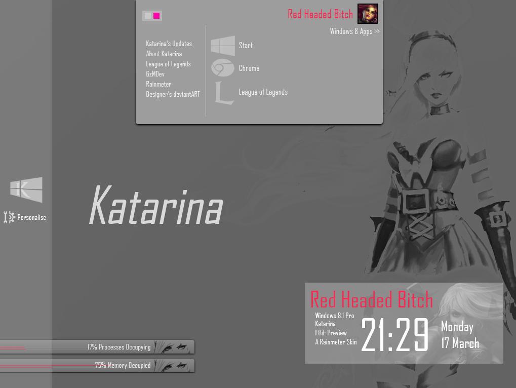 Rainmeter - Katarina