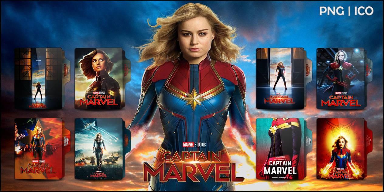 Captain Marvel (2019) Folder Icon Pack V1 by OMiDH3RO on DeviantArt