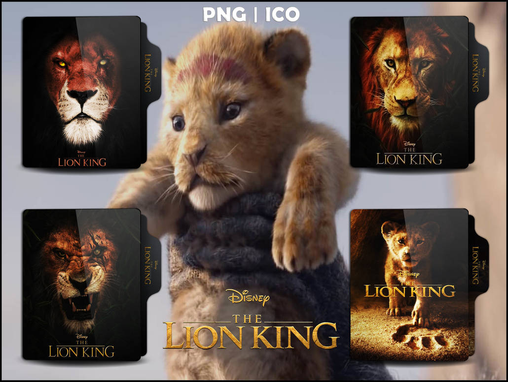 the lion king  2019  folder icon pack by omidh3ro on
