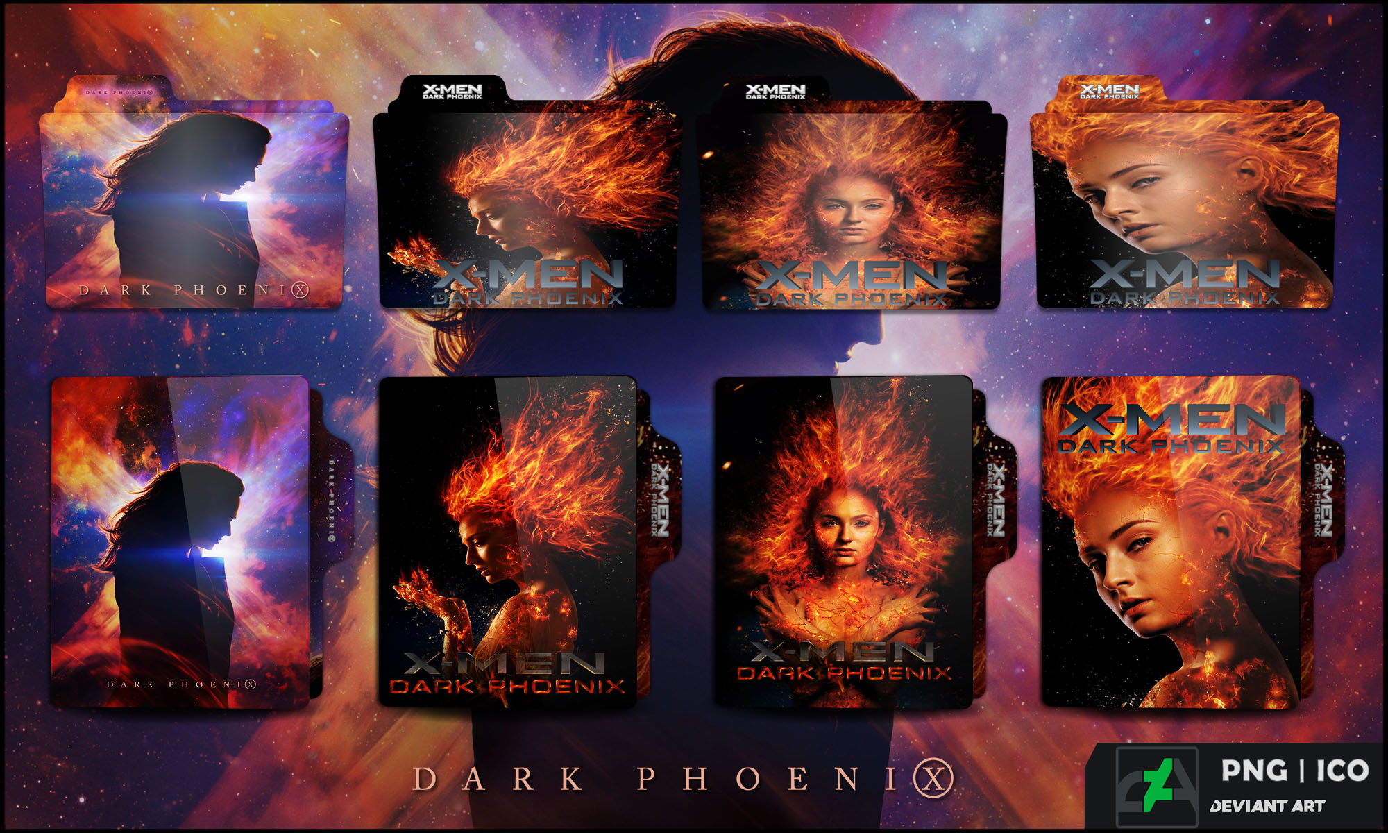 X Men Dark Phoenix 2019 Folder Icon By Omidh3ro On Deviantart