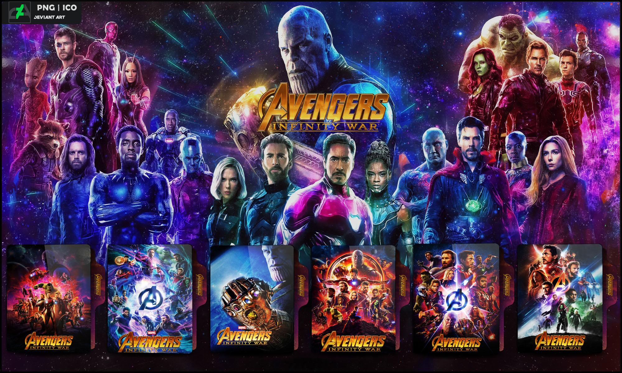 Avengers Infinity War 2018 Folder Icon Pack By Omidh3ro On Deviantart