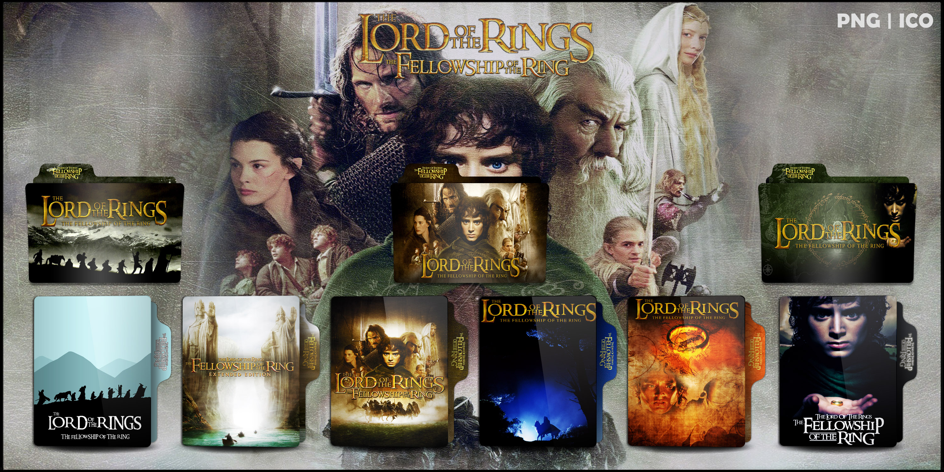 The Fellowship Of The Ring 2001 Folder Icon Pack By Omidh3ro On Deviantart