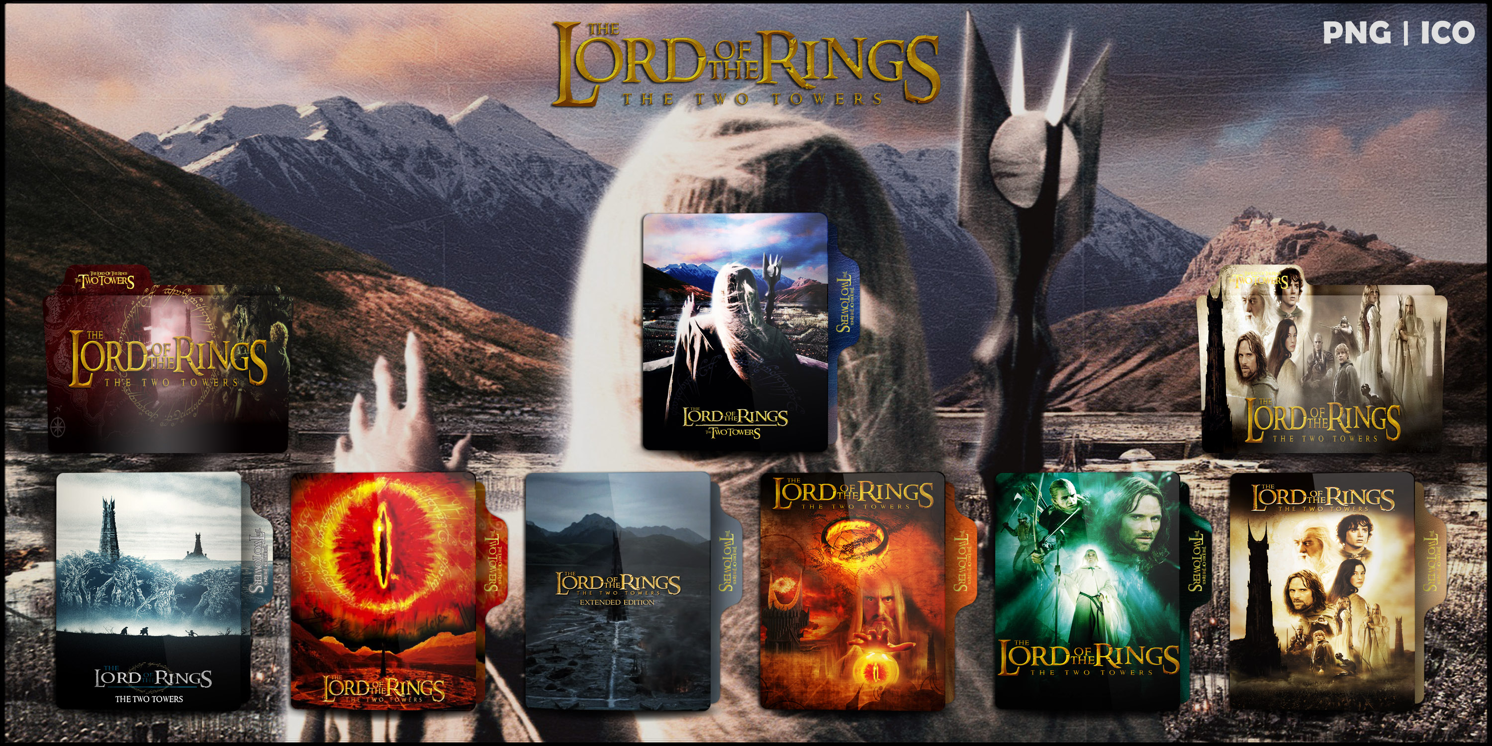 The Two Towers 2002 Folder Icon Pack By Omidh3ro On Deviantart