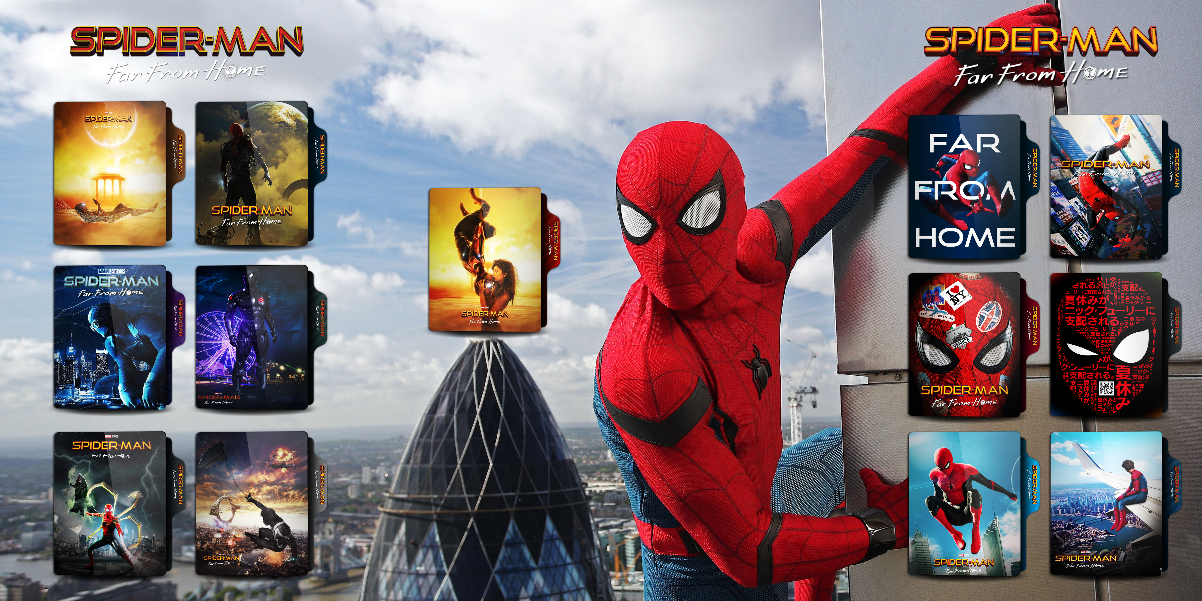 Spider Man Far From Home 2019 Folder Icon By Omidh3ro On Deviantart