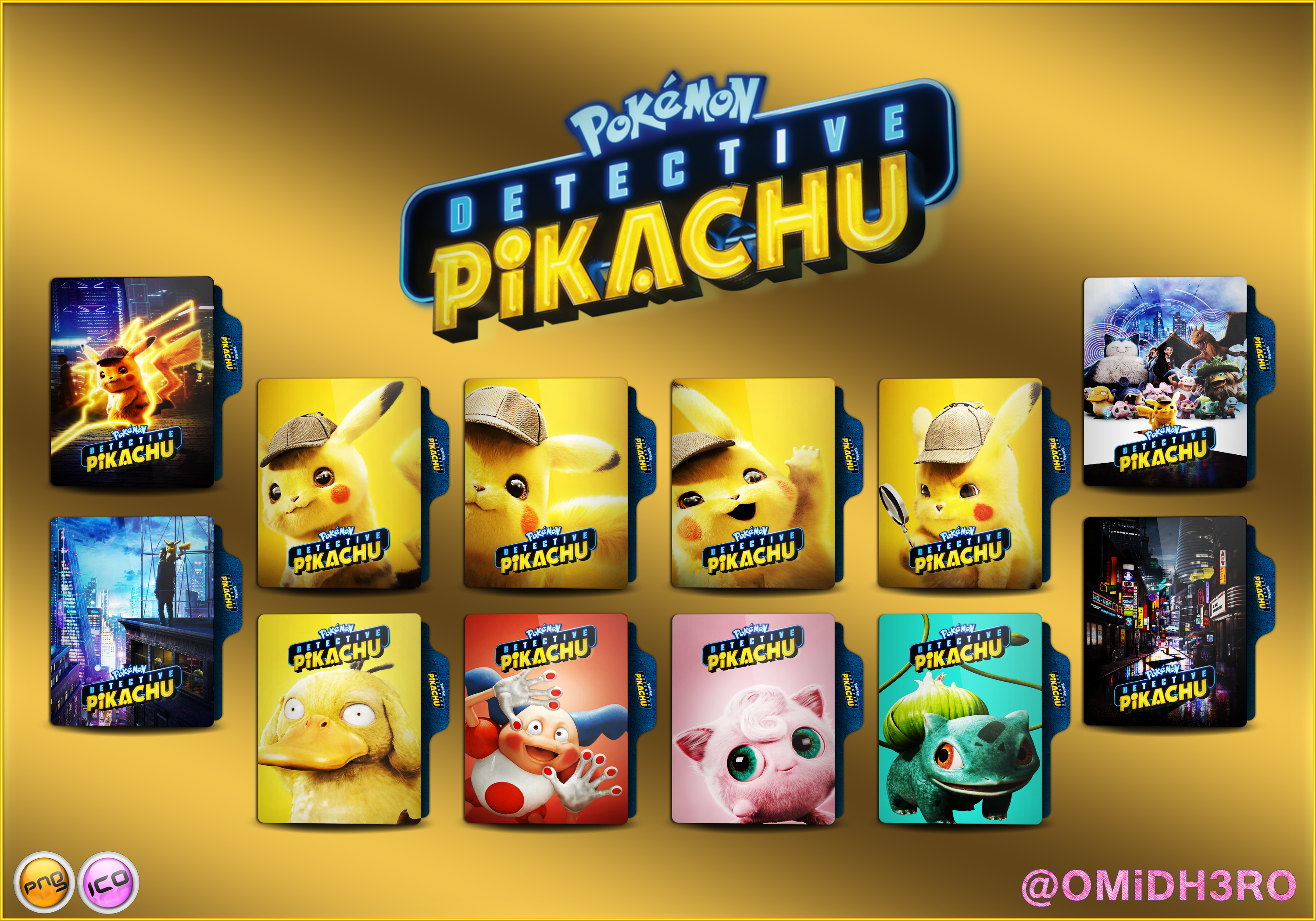 Pokemon Detective Pikachu 2019 Folder Icon By Omidh3ro On Deviantart