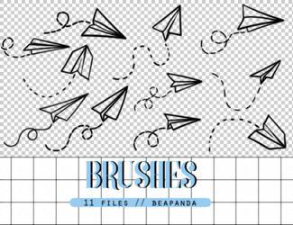 Brushes 012 // Paper Airplane by BEAPANDA