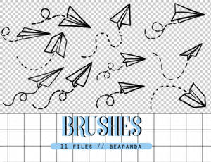 Brushes 012 // Paper Airplane