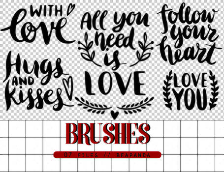 Brushes 014 // Text Love Brushes