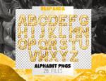 Renders 052 // Golden Alphabet Pngs