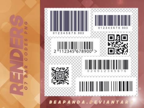 Renders 086 // Bar Code Pngs
