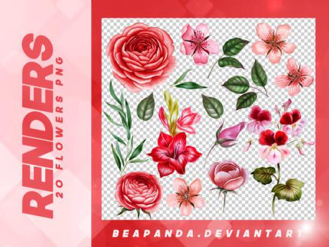 Renders 067 // Flowers Pngs