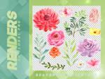 Renders 080 // Floral Pngs