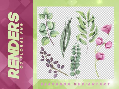 Renders 090 // Floral Pngs