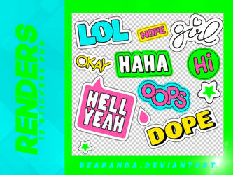 Renders 092 // Text Stickers Pngs by BEAPANDA