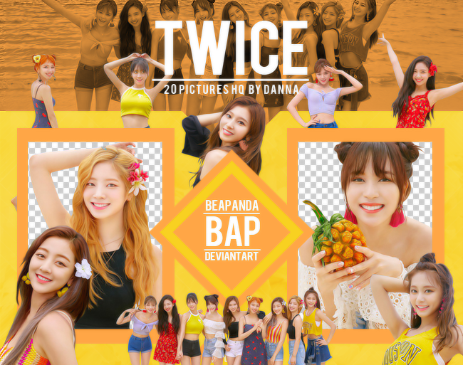 Pack Png 1206 // TWICE (Dance The Night Away) by BEAPANDA