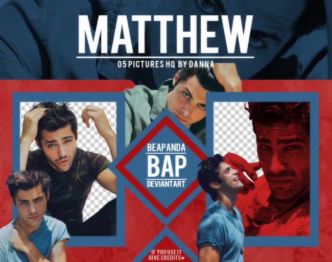 Pack Png 1281 // Matthew Daddario by BEAPANDA
