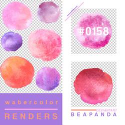 Renders 158 // Watercolor Splash Pngs by BEAPANDA