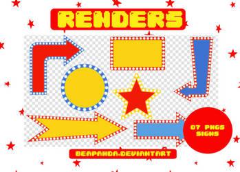 Renders 172 // Signs Pngs by BEAPANDA