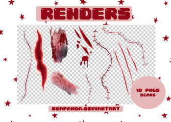 Renders 185 // Scars Pngs by BEAPANDA