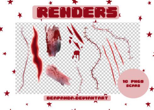 Renders 185 // Scars Pngs