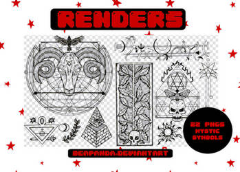 Renders 188 // Mystic Symbols Pngs by BEAPANDA
