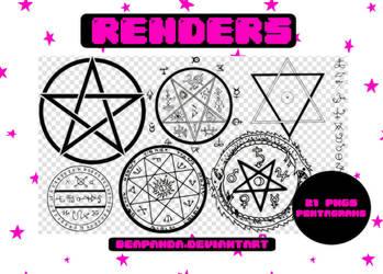 Renders 189 // Pentagrams Pngs by BEAPANDA
