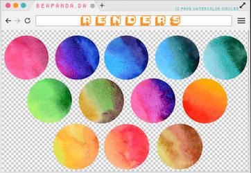 Renders 230 // Watercolor Circles Pngs by BEAPANDA