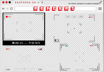 Renders 233 // Camera Focusing Screen Pngs by BEAPANDA
