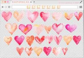 Renders 240 // Watercolor Hearts Pngs