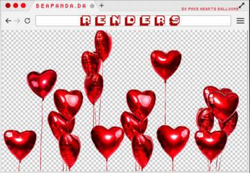 Renders 242 // Hearts Balloons Pngs by BEAPANDA