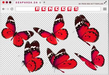 Renders 253 // Red Butterfly Pngs by BEAPANDA