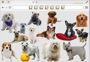 Renders 255 // Dogs Pngs by BEAPANDA