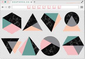 Renders 260 // Geometric Pngs by BEAPANDA