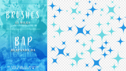 Brushes 054 // Glitter Stars by BEAPANDA